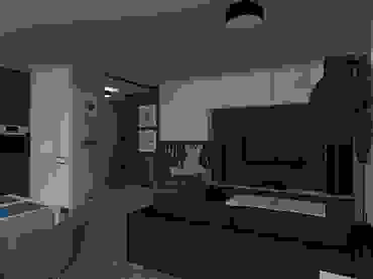 ap. studio architektoniczne Aurelia Palczewska Ruang Keluarga Gaya Skandinavia