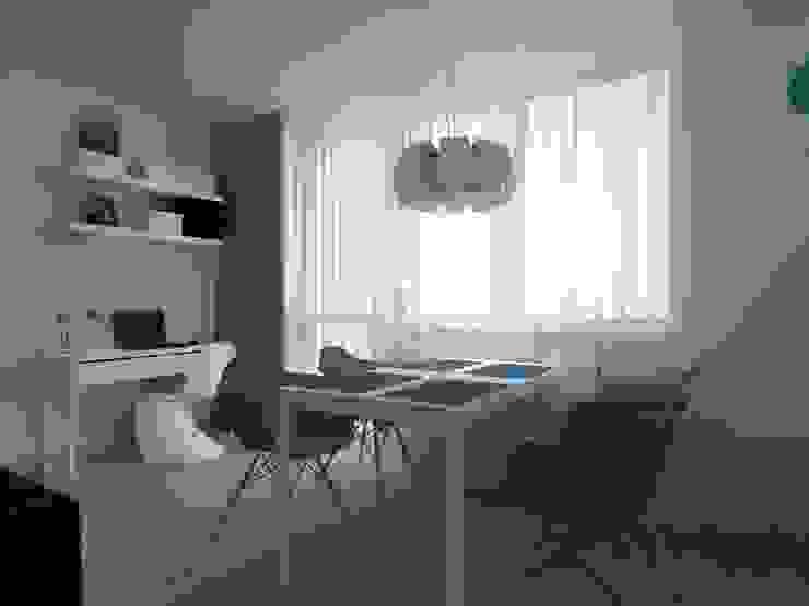 ap. studio architektoniczne Aurelia Palczewska Ruang Makan Gaya Skandinavia