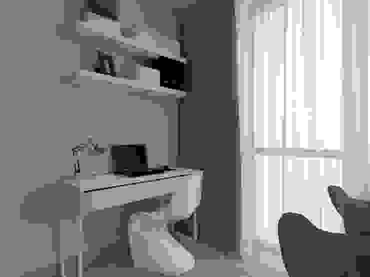 ap. studio architektoniczne Aurelia Palczewska Ruang Studi/Kantor Gaya Skandinavia