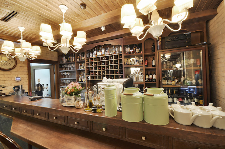 New interior for the cafe Nautilus in Perm ALLARTSDESIGN от homify