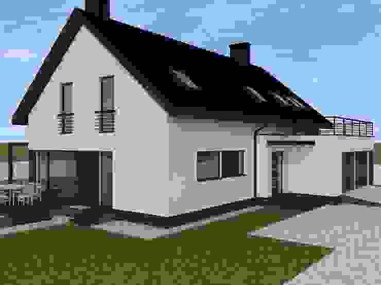 minimalistyczna elewacja w Nowym Dworze Gdańskim Minimalistyczne domy od ap. studio architektoniczne Aurelia Palczewska Minimalistyczny