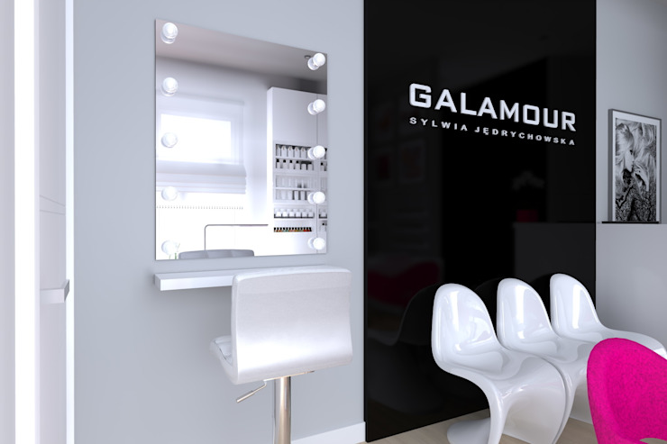 salon kosmetyczny w Iławie od ap. studio architektoniczne Aurelia Palczewska Nowoczesny