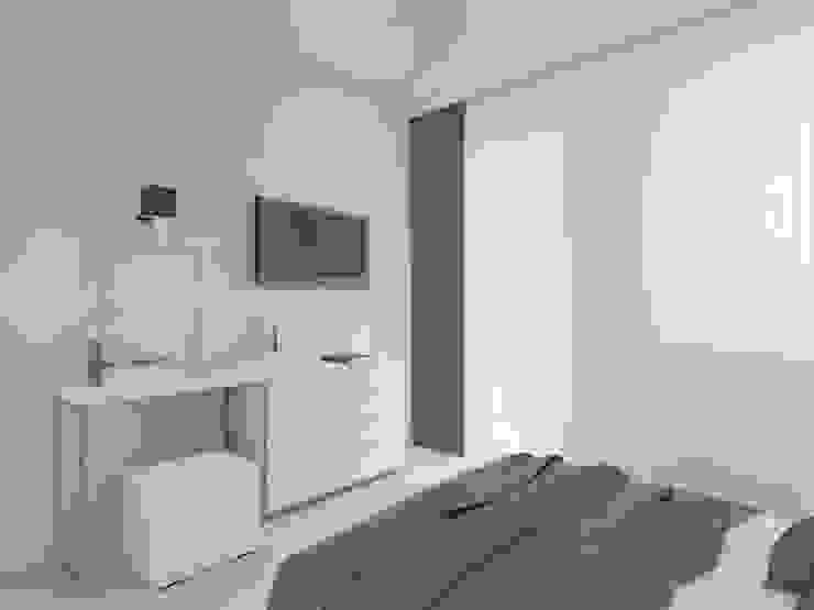 mieszkanie w Działdowie Nowoczesna sypialnia od ap. studio architektoniczne Aurelia Palczewska-Dreszler Nowoczesny