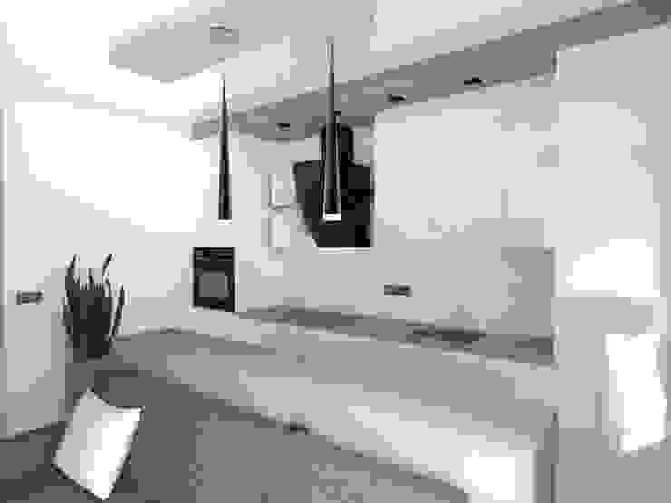 mieszkanie w Działdowie Minimalistyczna kuchnia od ap. studio architektoniczne Aurelia Palczewska-Dreszler Minimalistyczny