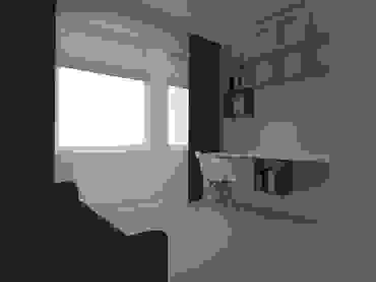 mieszkanie w Działdowie Skandynawskie domowe biuro i gabinet od ap. studio architektoniczne Aurelia Palczewska-Dreszler Skandynawski