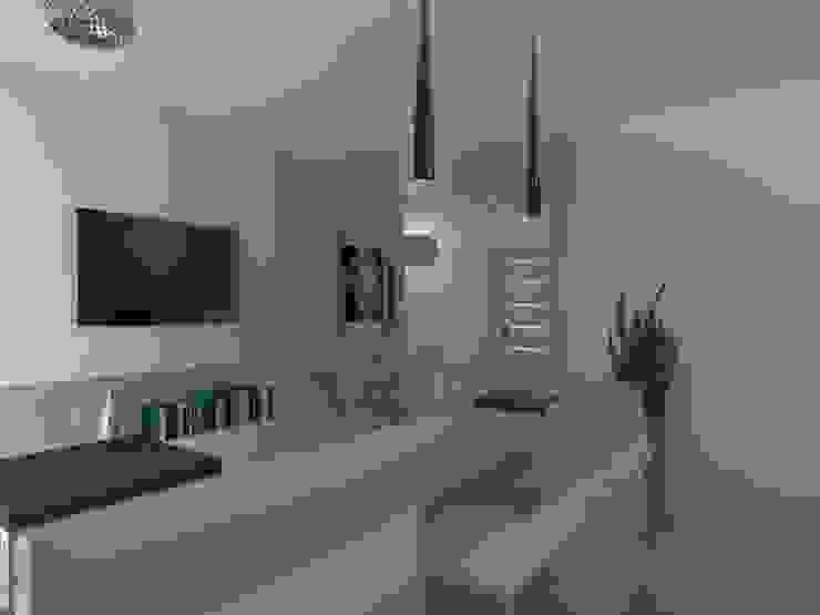 mieszkanie w Działdowie Eklektyczna kuchnia od ap. studio architektoniczne Aurelia Palczewska-Dreszler Eklektyczny
