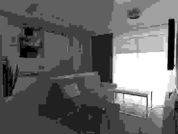 mieszkanie w Działdowie Nowoczesny salon od ap. studio architektoniczne Aurelia Palczewska-Dreszler Nowoczesny