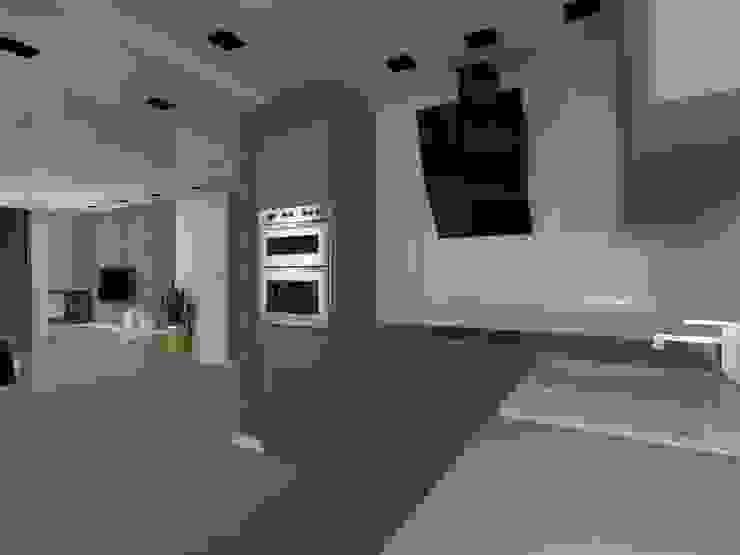 dom w Mikołajkach Pomorskich Nowoczesna kuchnia od ap. studio architektoniczne Aurelia Palczewska Nowoczesny