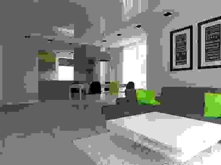 dom w Mikołajkach Pomorskich Nowoczesny salon od ap. studio architektoniczne Aurelia Palczewska Nowoczesny