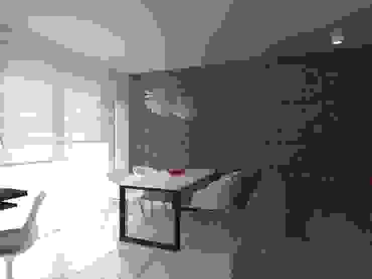 minimalistyczne mieszkanie w Iławie Minimalistyczna jadalnia od ap. studio architektoniczne Aurelia Palczewska Minimalistyczny