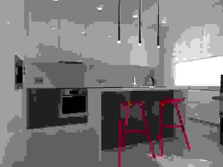 minimalistyczne mieszkanie w Iławie Minimalistyczna kuchnia od ap. studio architektoniczne Aurelia Palczewska Minimalistyczny