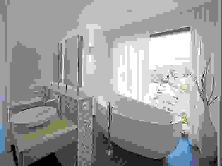 Haus mit Blick in die Weinberge und Pool Moderne Badezimmer von Rosenberger + Neidhardt Modern