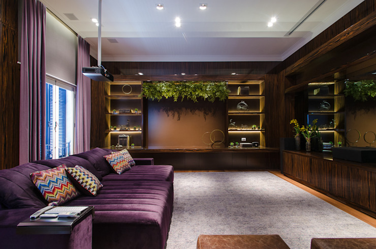 Home Theater | Residência SP Salas multimídia modernas por Christiana Marques Fotografia Moderno