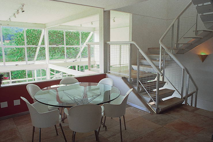 Casa Serrana por Joao Diniz Arquitetura Salas de jantar modernas por JOAO DINIZ ARQUITETURA Moderno