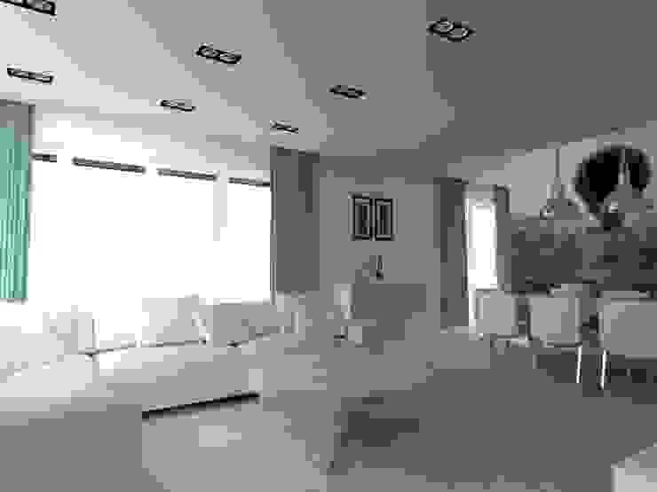 salon w Nowym Dworze Nowoczesny salon od ap. studio architektoniczne Aurelia Palczewska-Dreszler Nowoczesny