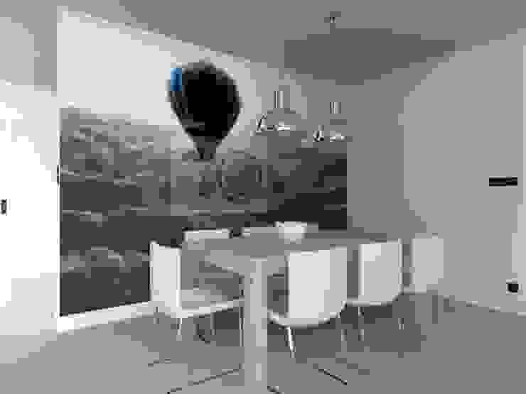 salon w Nowym Dworze Nowoczesna jadalnia od ap. studio architektoniczne Aurelia Palczewska-Dreszler Nowoczesny