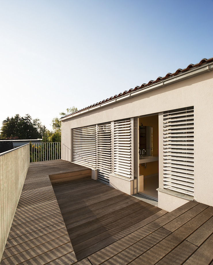 Terrasse - OG Moderner Balkon, Veranda & Terrasse von Abendroth Architekten Modern