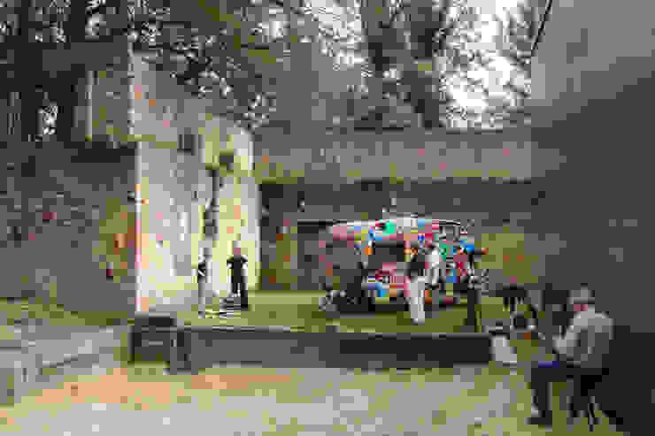 Atelier van Eyk / Ausstellung Caravan und Satellit Minimalistische Häuser von Architekturbüro Birker Minimalistisch