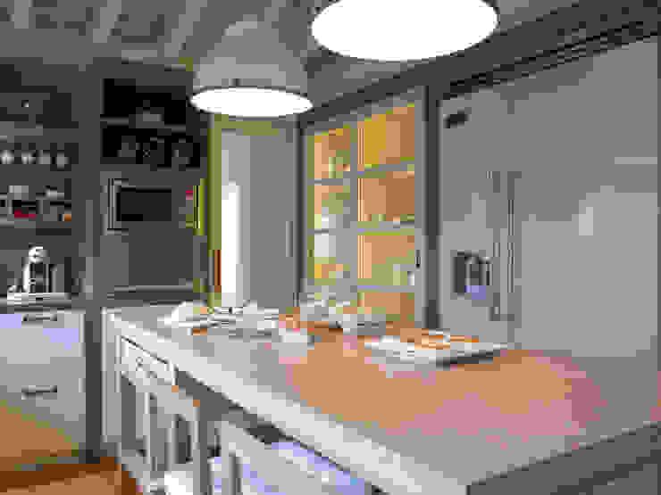 Isla central móvil Cocinas modernas de homify Moderno