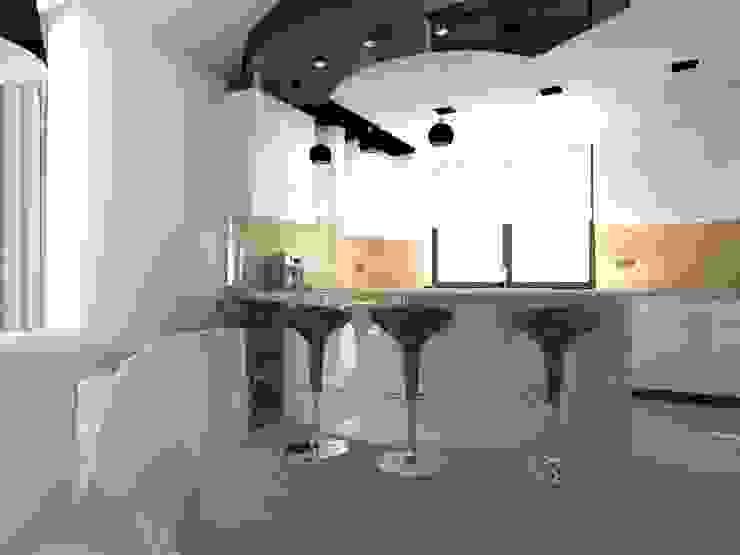 dom koło Nowego Miasta Lubawskiego Nowoczesna kuchnia od ap. studio architektoniczne Aurelia Palczewska-Dreszler Nowoczesny