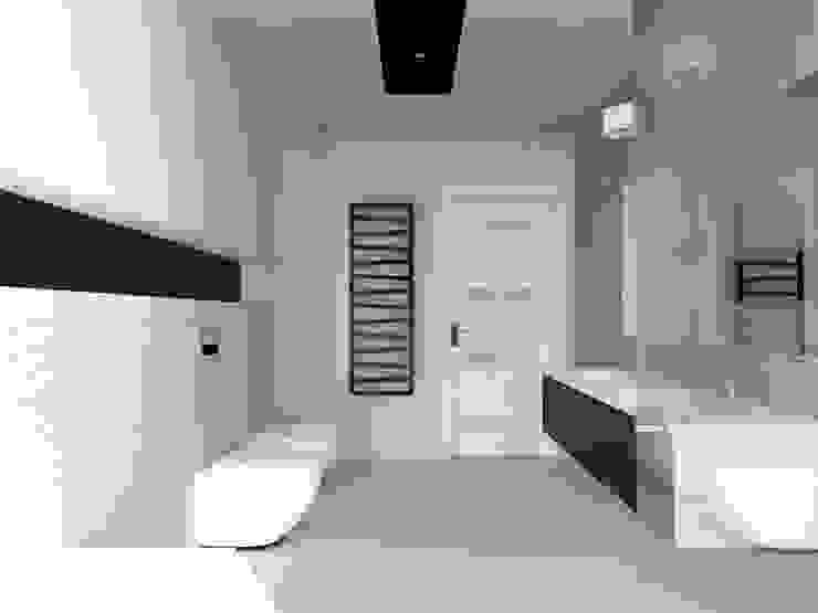 dom koło Nowego Miasta Lubawskiego Minimalistyczna łazienka od ap. studio architektoniczne Aurelia Palczewska-Dreszler Minimalistyczny