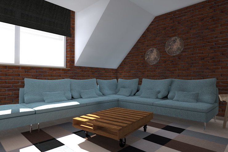ap. studio architektoniczne Aurelia Palczewska Salas de estilo industrial