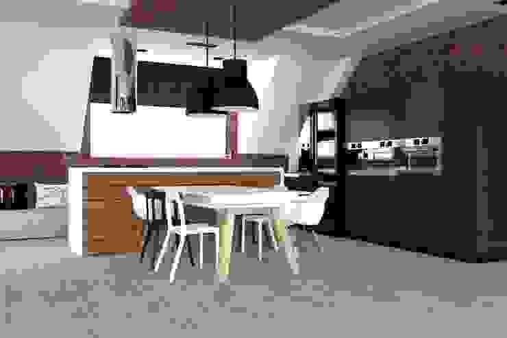 Industrial style kitchen by ap. studio architektoniczne Aurelia Palczewska Industrial
