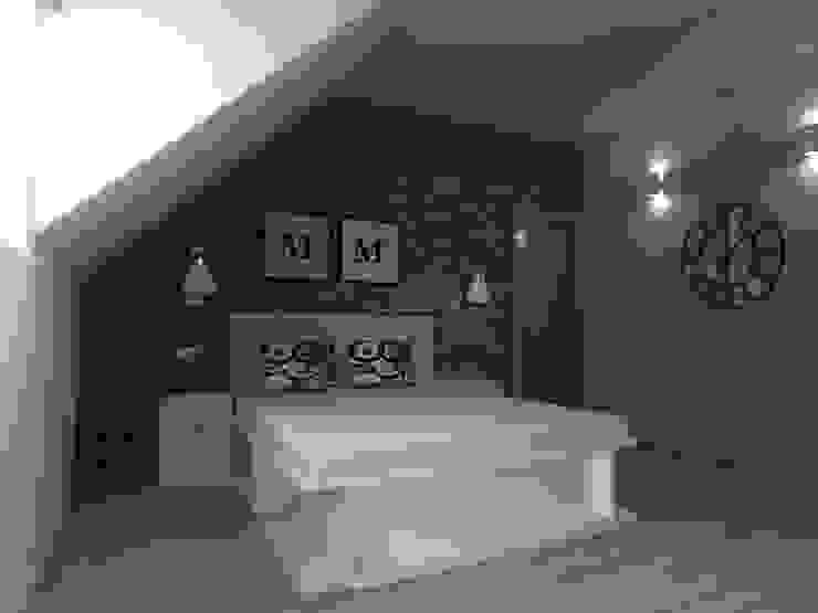 Industrial style bedroom by ap. studio architektoniczne Aurelia Palczewska Industrial