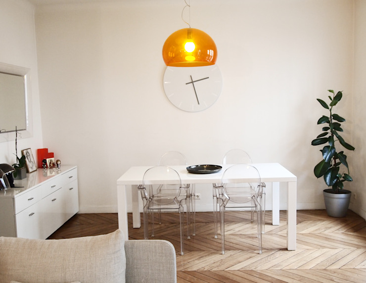 Minimalist dining room by Thibaudeau Architecte Minimalist