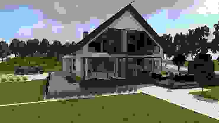 dom z ogrodem koło Nowego Miasta Lubawskiego Nowoczesne domy od ap. studio architektoniczne Aurelia Palczewska-Dreszler Nowoczesny