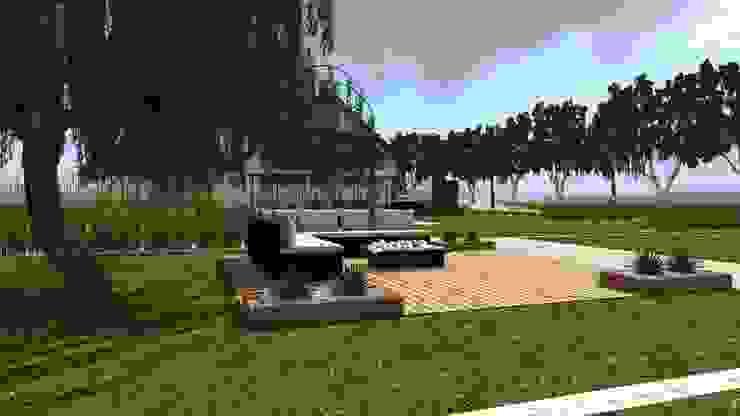 dom z ogrodem koło Nowego Miasta Lubawskiego Nowoczesny ogród od ap. studio architektoniczne Aurelia Palczewska-Dreszler Nowoczesny