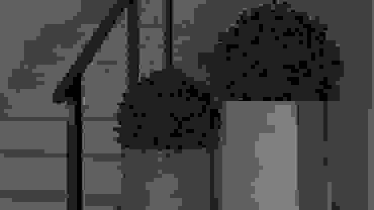 dom z ogrodem koło Nowego Miasta Lubawskiego Nowoczesny korytarz, przedpokój i schody od ap. studio architektoniczne Aurelia Palczewska-Dreszler Nowoczesny