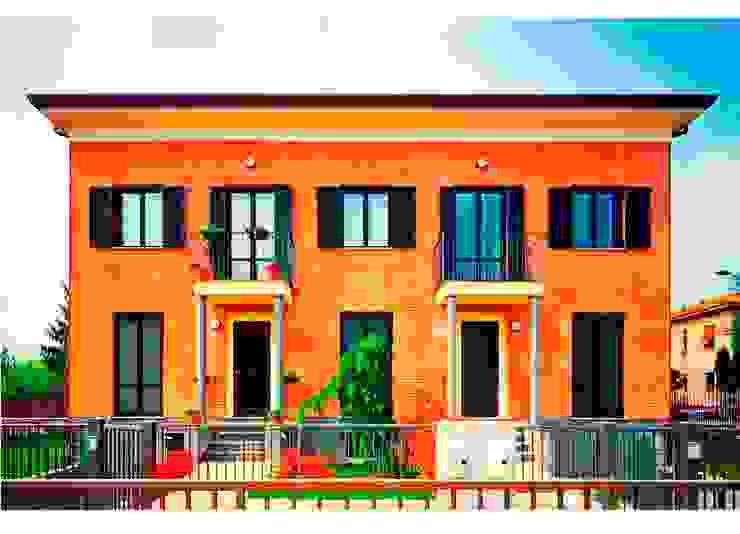 CASA BIFAMILIARE Case moderne di BORGHI ARCHITECT& PARTNERS Moderno