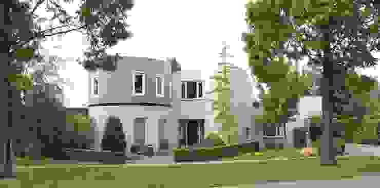 woonhuis met ronde woonkamer en ronde optopping Moderne huizen van mickers architectuur Modern
