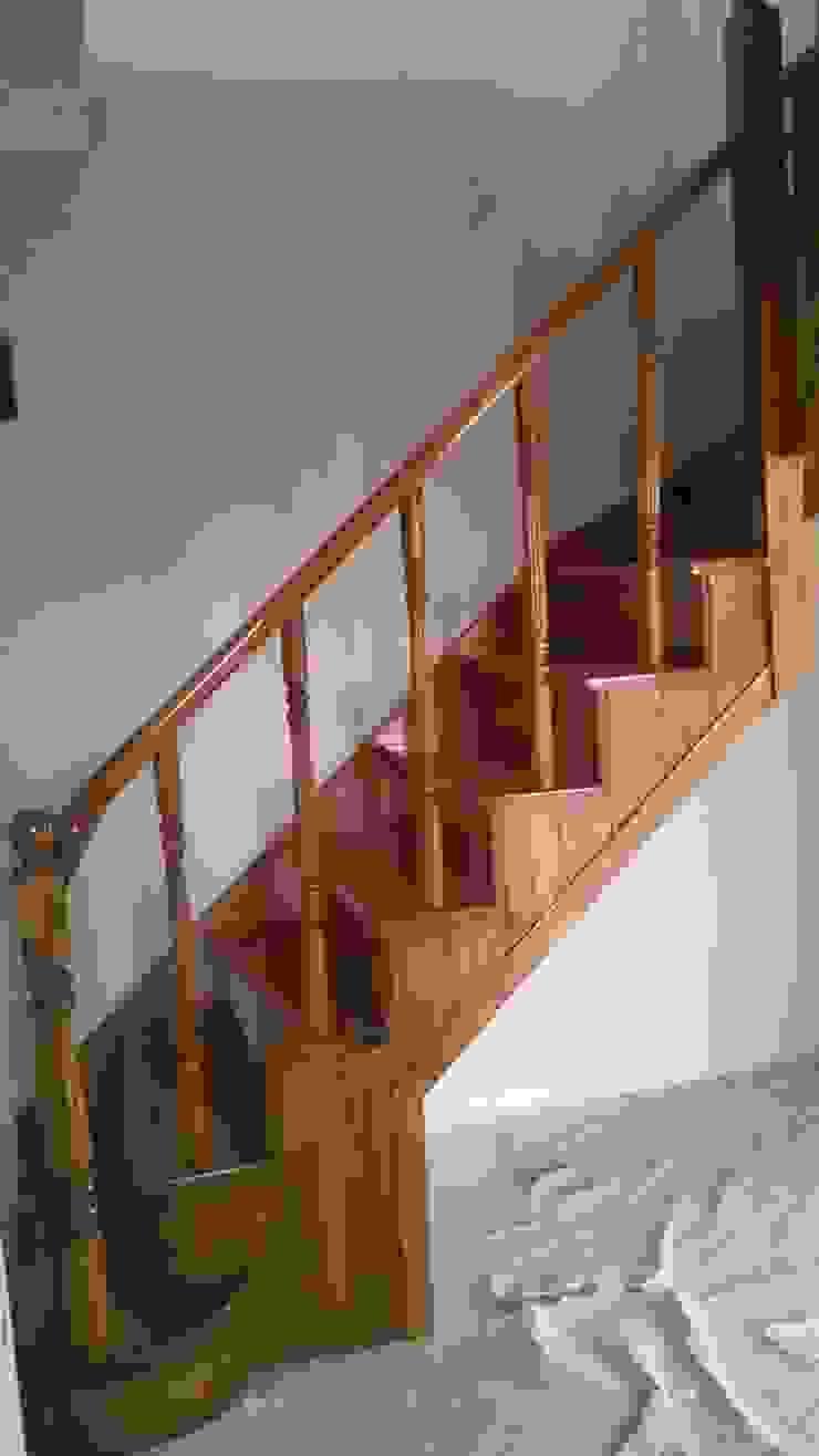 boşta L merdiven Yıldız Ahşap merdiven ve küpeşte Rustik