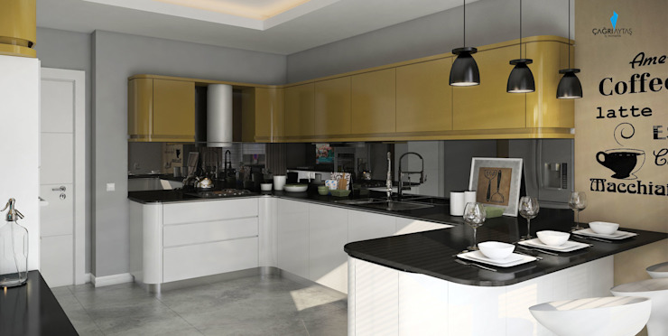 UYSAL RESIDENCE Modern Mutfak Çağrı Aytaş İç Mimarlık İnşaat Modern