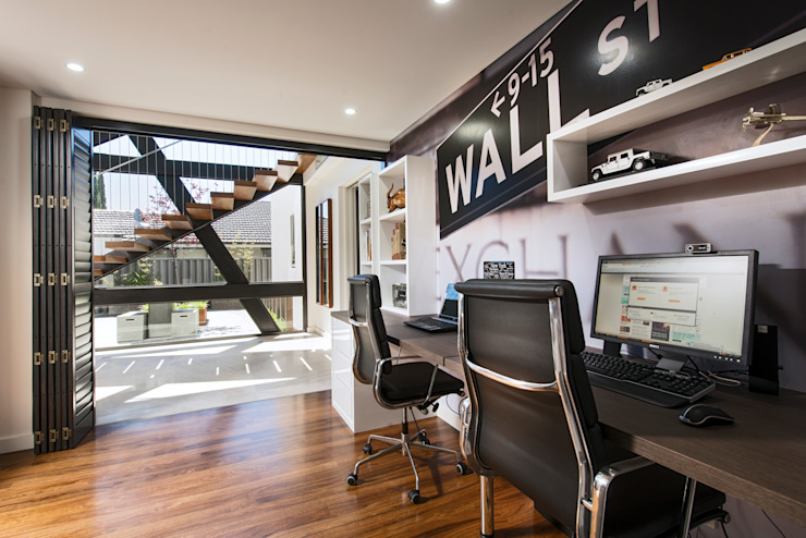 Menora Residence Modern study/office by Moda Interiors Modern