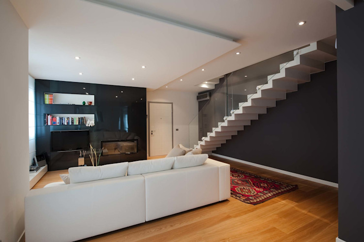 Living room by SANSON ARCHITETTI,