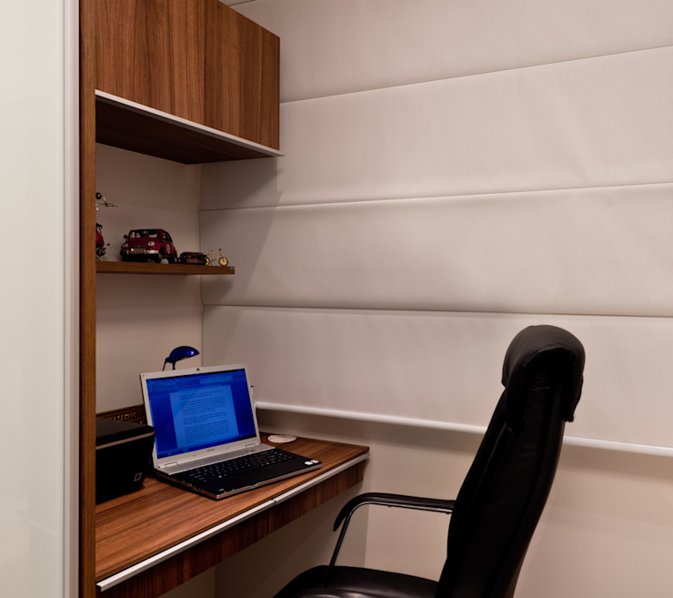 Projeto arquitetônico de interiores para residencia unifamiliar. (Fotos: Lio Simas) Escritórios ecléticos por ArchDesign STUDIO Eclético