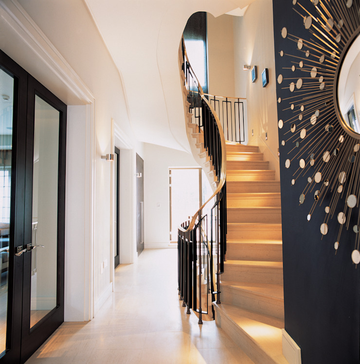 Phillimore Square Modern corridor, hallway & stairs by KSR Architects Modern