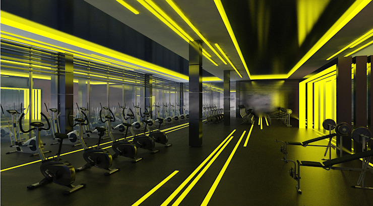 DUHOK – Fitness Center Modern Oteller Ayaz Ergin İç Mimarlık Modern