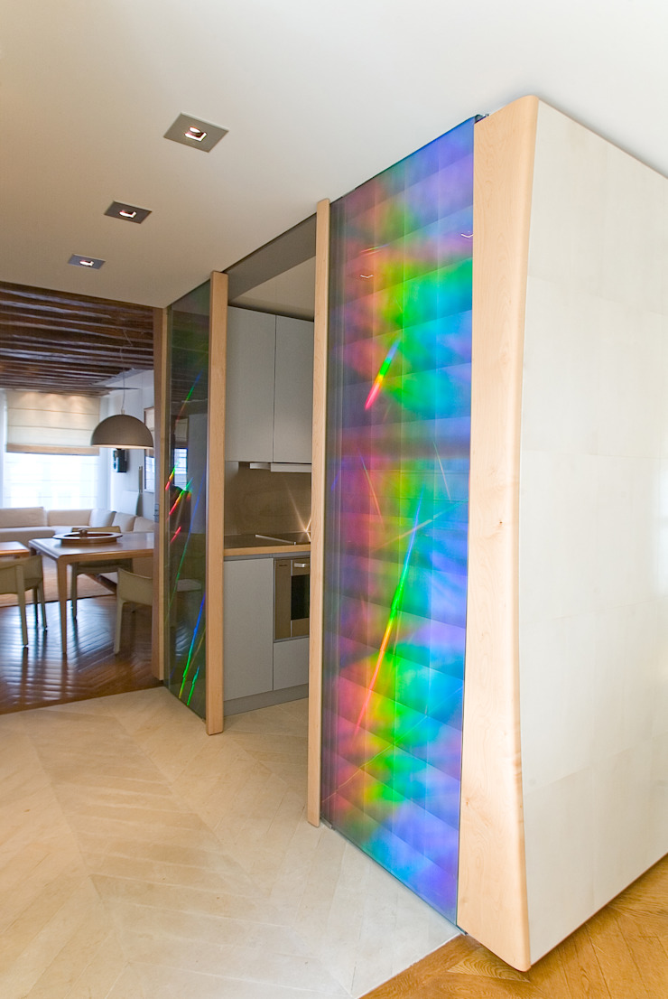 Modern Corridor, Hallway and Staircase by Atelier TO-AU Modern