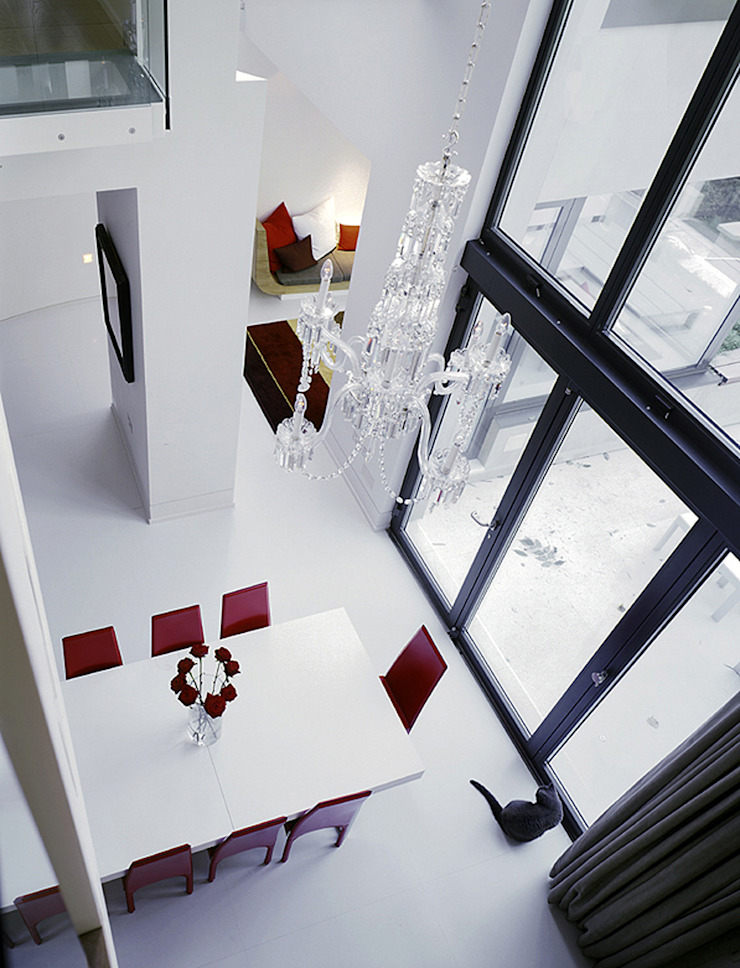 Thurlow Road 2 Minimalist dining room by KSR Architects Minimalist