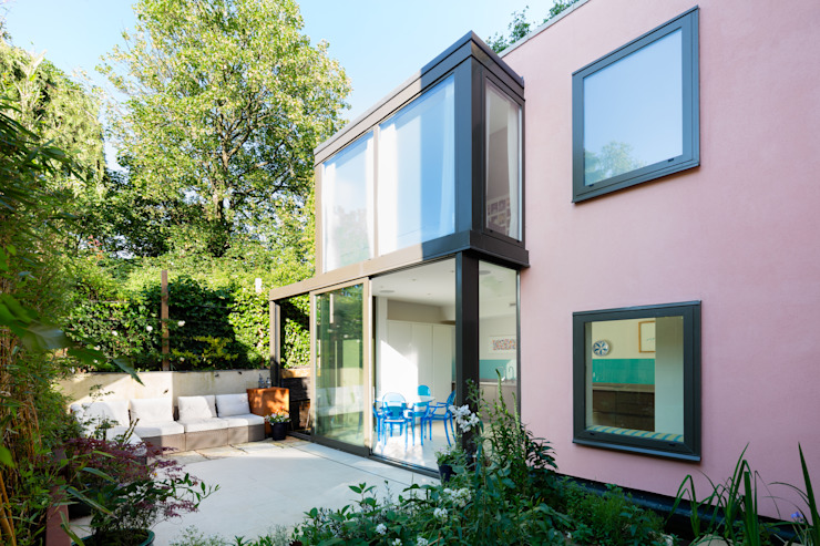 Green Retrofit, Lambourn Road Case moderne di Granit Architects Moderno