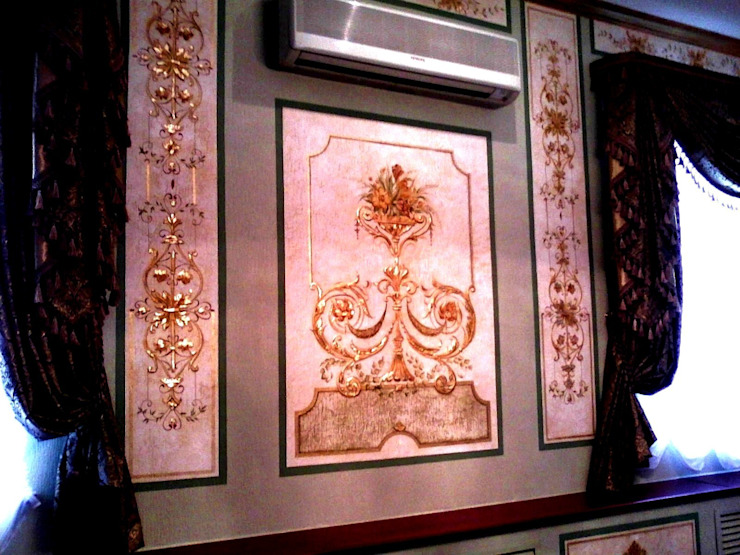 роспись кабинета Рабочий кабинет в классическом стиле от Абрикос Классический