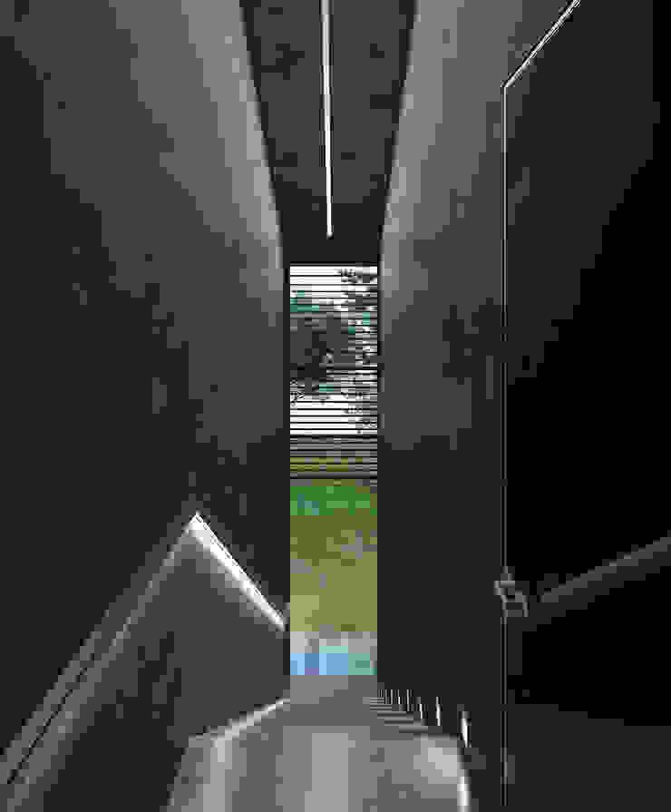 Pasillos, halls y escaleras minimalistas de Архитектурное бюро и дизайн студия 'Линия 8' Minimalista