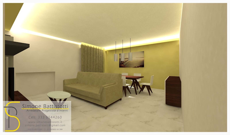 Ristrutturazione Appartamento – Caselle di Selvazzano (PD) Soggiorno moderno di Simone Battistotti - SB design Moderno