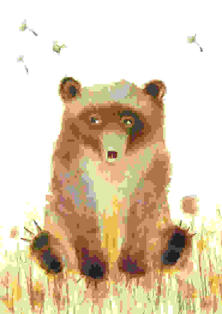 Furry Bear by Juliet Docherty: modern  by Little Carousel Gallery, Modern