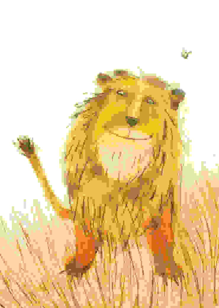 Lion by Juliet Docherty: modern  by Little Carousel Gallery, Modern
