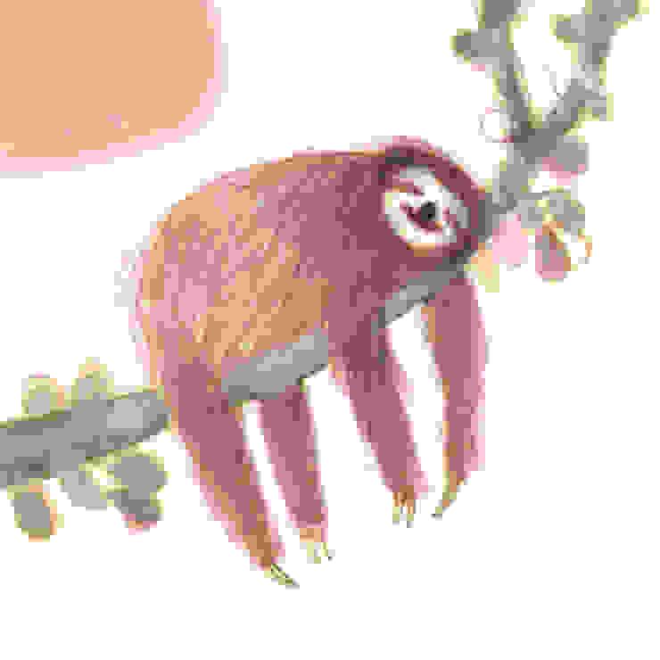 Sleepy Sloth by Juliet Docherty: modern  by Little Carousel Gallery, Modern